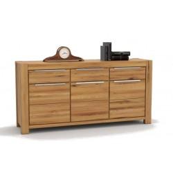 Pełny Lity Dąb - Komoda 3 szuflady i 3 drzwi - 2766