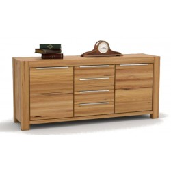 Pełny Lity Dąb - Kredens 4 szuflady i 2 drzwi - 2758