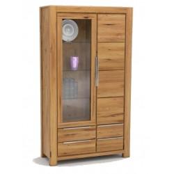 Pełny Lity Dąb - Witryna 4 szuflady i 2 drzwi - 2759