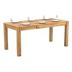 Pełny Lity Dąb -Stół rozkładany - 3 rozmiary