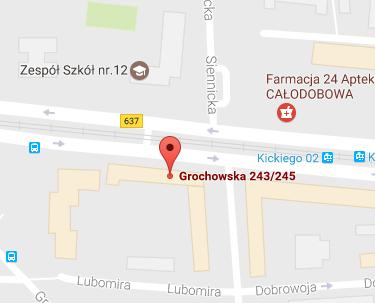 Mapa Grochowska 243